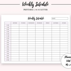Work Planner Printable Weekly Work Schedule Productivity Planner Workday Planner Daily Work From Home Planner To Do List Pdf Download In 2021 Time Blocking Planner Work Planner Printable Planner