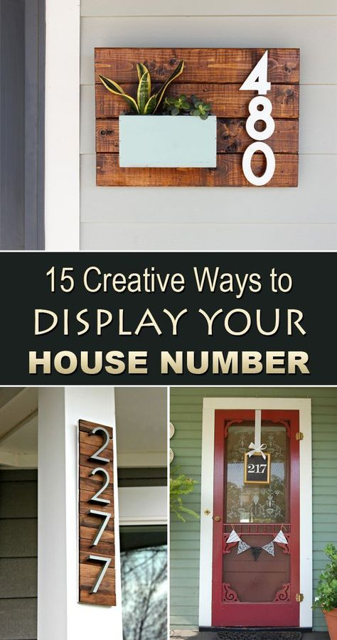 15 Creative Ways To Display Your House Number Bancos Diy Home