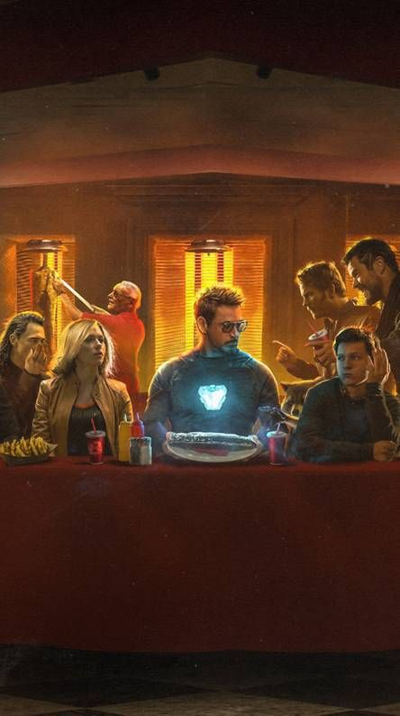 The First Avengers In Restaurant Marvel Iphone Wallpaper Iphone Wallpaper Avengers Wallpaper