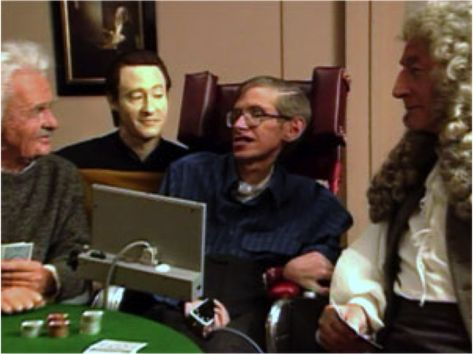 Resultado de imagen de stephen hawking in star trek next generation