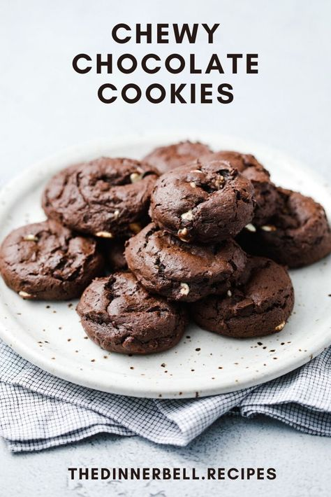 Super fudgy chewy chocolate cookies made with basic pantry staples. Part cookie, part brownie and totally delicious.