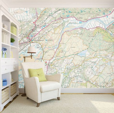 Personalised Map Wallpaper In 2020 Map Wallpaper Prepasted