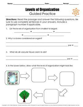 Levels Of Organization Reading Lesson Reading Lessons High School Science Lesson