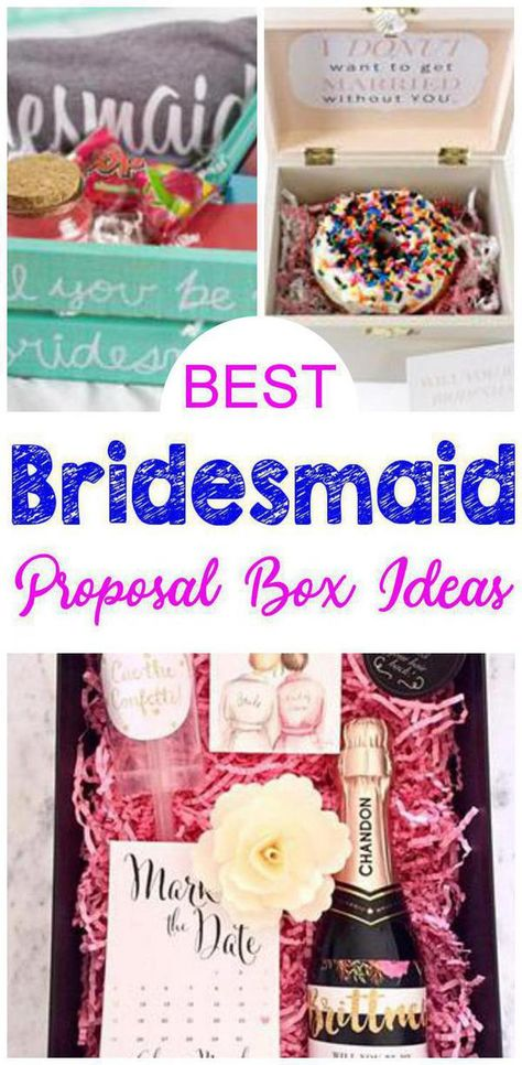 Bridesmaid Proposal Box Ideas! Find the best bridesmaid proposal ideas! From DIY ideas to box ideas to card ideas to kits to affordable to cheap to inexpensive you can find creative, unique, simple, easy and fun bridesmaid proposals. Great gifts for your feature bridal party - can be used as maid of honor proposals, junior bridesmaids and flower girl proposals too. Give at your engagement party or get together with your bride tribe. Get the best Bridesmaid Proposal Box ideas now!