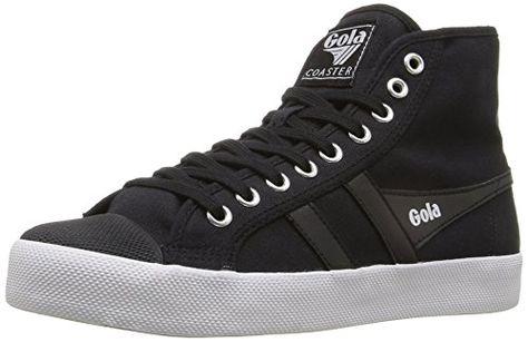 034a75b83c80b Gola Women's Coaster High Fashion Sneaker, Black/Black/White, 7 M US ...