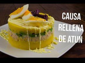 Causa Rellena De Atun Youtube Peruvian Recipes Peruvian Cuisine Peruvian Causa Recipe