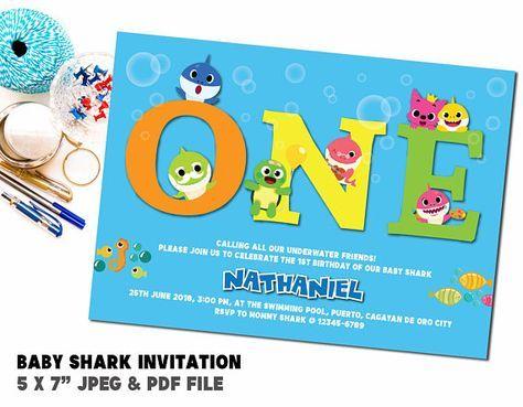 baby shark birthday party invitation