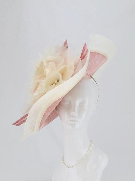 Women Stripe Bow Arrow Feather Straw Saucer Fascinator Cocktail Wedding Hat A003