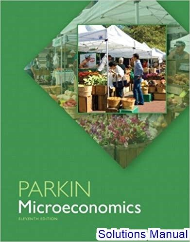 Solutions Manual For Microeconomics 11th Edition By Michael Parkin Michael Parkin Economics Textbook Textbook