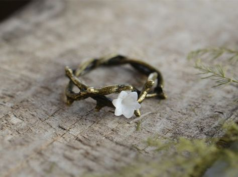 Vine Ring,Flower ring, Bronze Ring, Wish Ring,Spring Jewelry