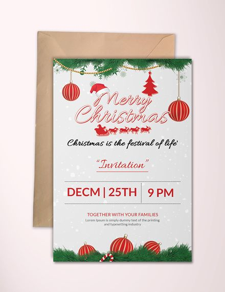 Merry Christmas Party Invitation Template Free Jpg Word Outlook Apple Pages Psd Publisher Template Net Christmas Invitations Template Christmas Party Invitation Template Party Invite Template