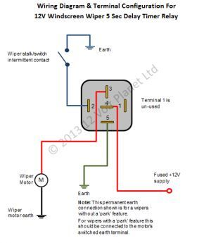 12v Universal Intermittent Wiper Timer Relay 5 Sec Delay Car Audio Installation Motorcycle Wiring Electrical Diagram
