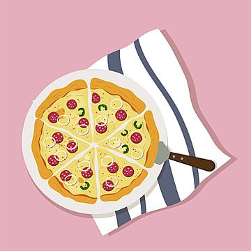 Pizza Italian Food Illustration Pizza Clipart Pizza Food Png And Vector With Transparent Background For Free Download Italian Recipes Food Illustrations Cute Food Art