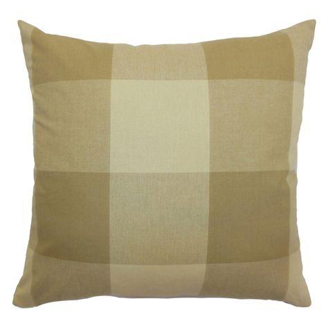The Pillow Collection Kalen Plaid