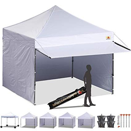 Amazon Com Abccanopy 10x10 Ez Pop Up Canopy Tent Instant Shelter Commercial Portable Market Canopy With 4 Removable Zipp Portable Carport Canopy Tent Carport