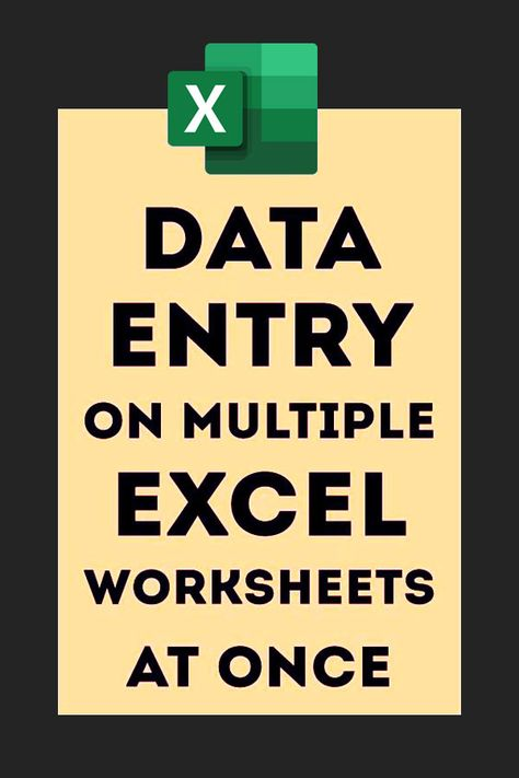 Data Entry on Multiple Worksheets At Once – Excel formulas and functions – Basic Excel Formulas Technology Hacks, Computer Technology, Computer Programming, Business Technology, Vba Excel, Microsoft Excel Formulas, Excel For Beginners, Computer Help, Computer Lessons