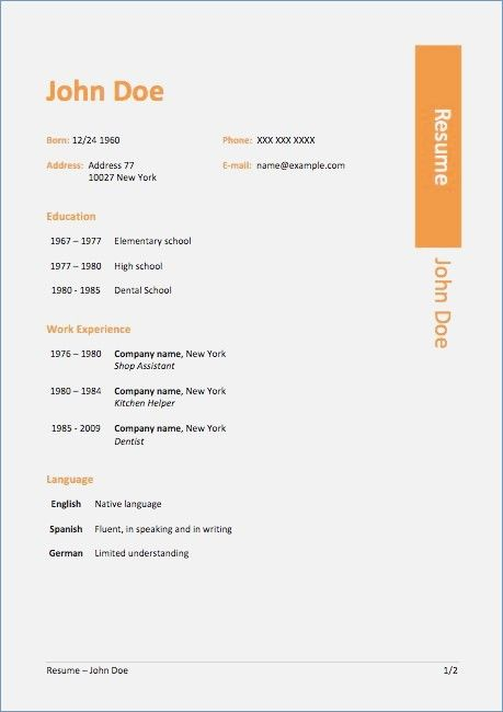 Windows 7 Resume Templates Resume Templates Resume Templates Microsoft Word Resume Template Resume Template Free