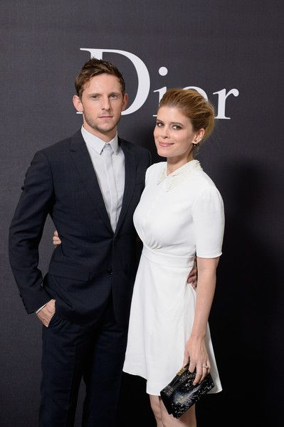 Jamie Bell and Kate Mara attend the Dior Homme Menswear Spring/Summer 2018 show as part of Paris Fashion Week.