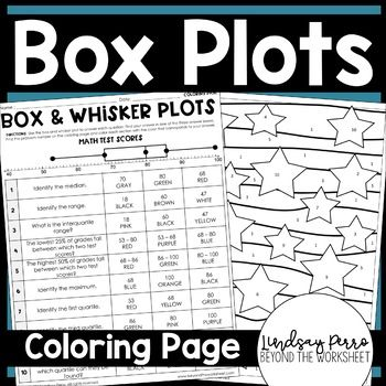 This Data Displays Coloring Worksheet Gives Students An Engaging And Self Checking Way To Practice I Reading Foundational Skills Color Worksheets Everyday Math Box and whisker plots worksheets