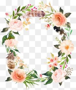 Flowers And Wreaths Wreath Flowers Frame Png Transparent Clipart Image And Psd File For Free Download Free Watercolor Flowers Floral Image Clip Art