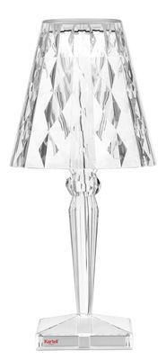 Lampe De Table Big Battery Led Kartell Transparent Made In Design Lampe Sans Fil Lampe Kartell Stores De Fenetre
