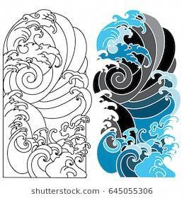 Japanese Wave For Tattoo Ocean Tattoo For Arm Hawaiiantattoos Japanese Tattoo Art Tattoo Background Waves Tattoo
