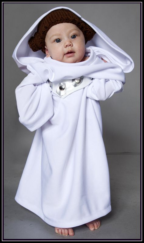Princess Leia robe & hat for your baby girl