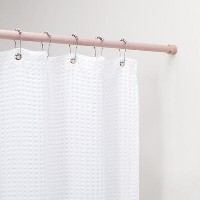 Wayfair Basics 76 Adjustable Straight Tension Shower Curtain Rod