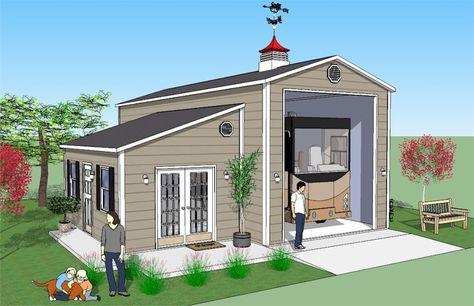 Impressions 16 X45 Rv Garage With Office Or Workshop Rv Garage Garage House Plans Garage Remodel