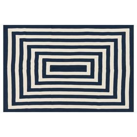 Picture Of D276 Braid Navy White 5x7 Rugs White Rug Braided Rugs