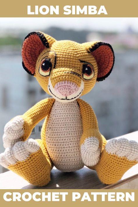 August amigurumi pattern jungle animal Lion amigurumi pattern crochet lion pattern Leo sign crochet pattern leonine amigurumi patterns