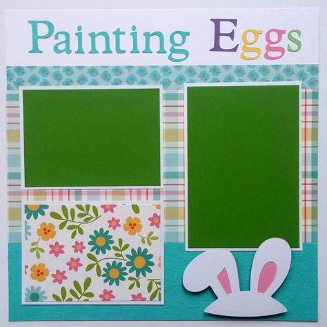EZ Layout 4164 Easter Egg Hunt Premade Scrapbook Pages