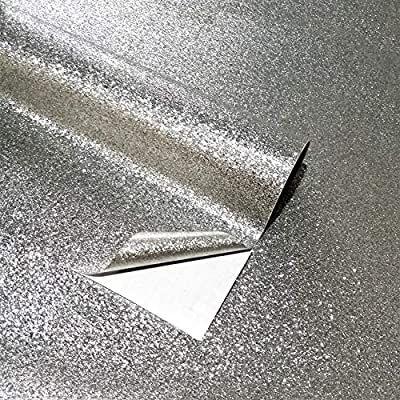 Self Adhesive Glitter Wallpaper Peel And Stick Waterproof Decor Film Roll Textured Sparkle Art Backgrou Glitter Wallpaper Silver Glitter Wallpaper Glitter Wall