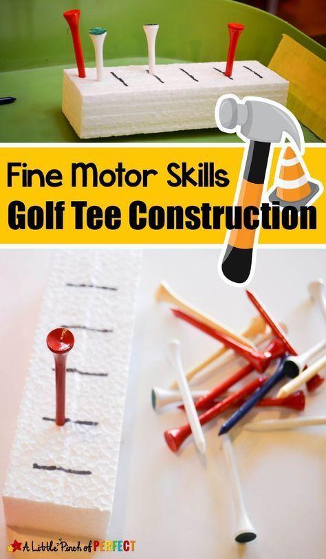 Fine Motor Skills Golf Tee Construction Activity -