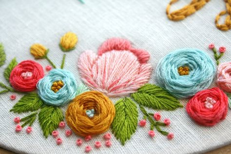 Custom Floral Embroidery Pattern