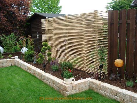 Moderne Terrasse Und Balkon Garten Idee:Garten Sichtschutz ...