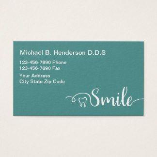 Dentiste Moderne Businesscards Cartes De Visite