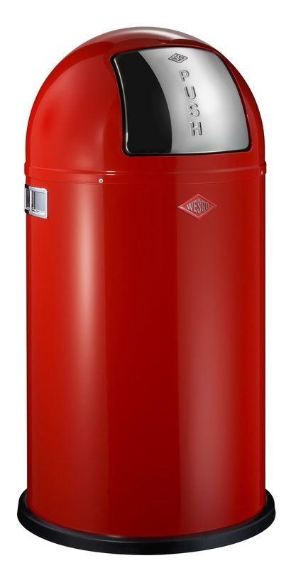 Pushboy 11 4 Gallon Swing Top Trash Can In 2021 Trash Can Wesco Kitchenware Shop Stainless steel swing top trash can