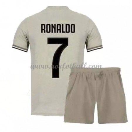 37a41e52 Billige Fotballdrakter Juventus Barn 2018-19 Cristiano Ronaldo 7 Borte Draktsett  Fotball Kortermet