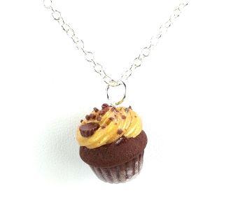 Chocolate Peanut Butter Cupcake Necklace