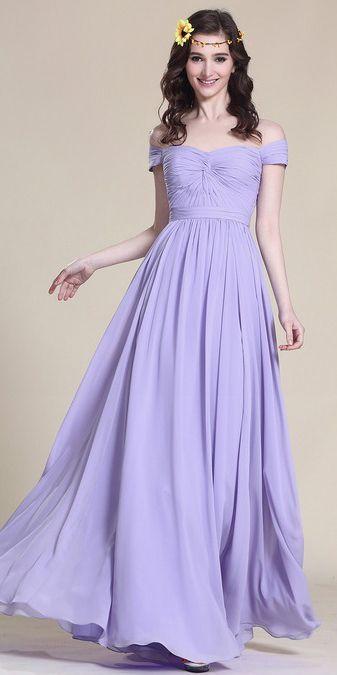 Off Shoulder Lavender Bridesmaid Dress Bridesmaid Dresses Bridesmaid Dresses Prom Lavender Bridesmaid Dresses