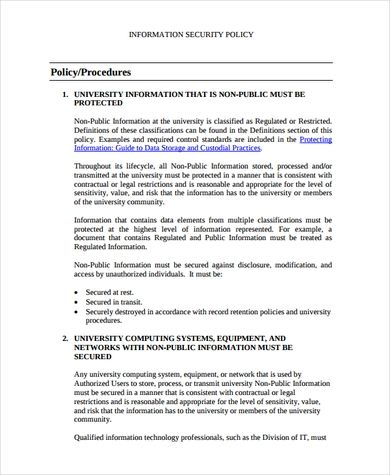 Best 5 Information Security Policy Template Pdf You Calendars Https Www Youcalendars Com Information Security Policy Policy Template Templates Policies