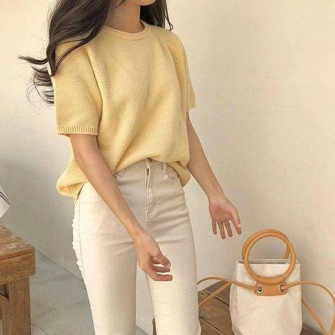 Girl classy wear idea stylish spring 2021 cute japanse shopping tiktok college