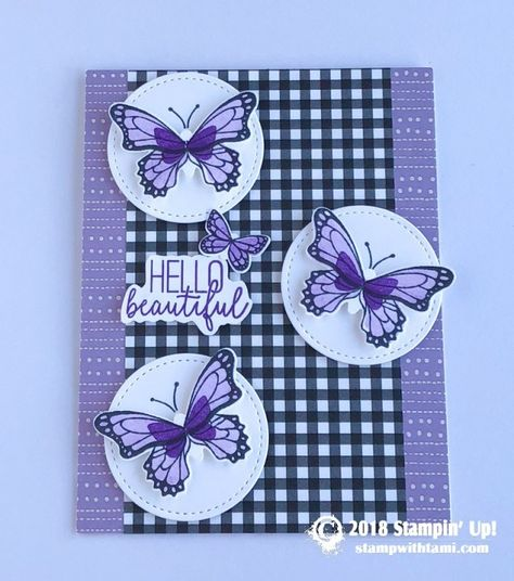 card hello beautiful from the butterfly gala stamp set