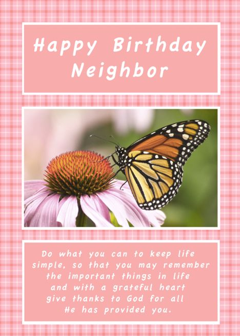Birthday Wishes for Neighbor - Cards Wishes