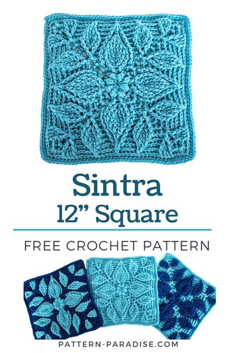 Free Crochet Square, Granny Square Pattern Free, Crochet Squares Afghan, Crochet Blocks, Granny Square Crochet Pattern, Crochet Square Blanket, Knitting Squares, Hexagon Pattern, Crochet Mandala Pattern