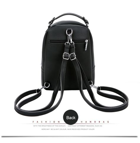 1bbb6e743 Aliexpress.com : Buy Vintage Simple Style Women Backpacks Female PU Leather  Small Backpack Travel Bag School Bags For Teenagers Girls 2018 XA464H from  ...