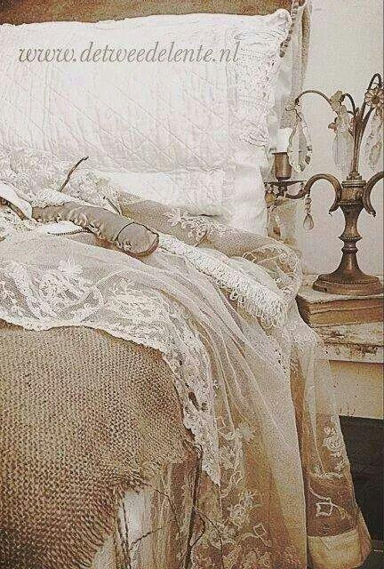 brocante slaapkamer inspiratie by colindaborst on Pinterest  Vintage ...