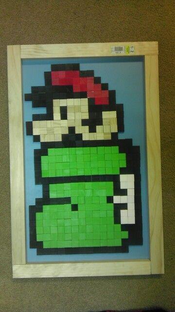 Mario in boot pixel art!