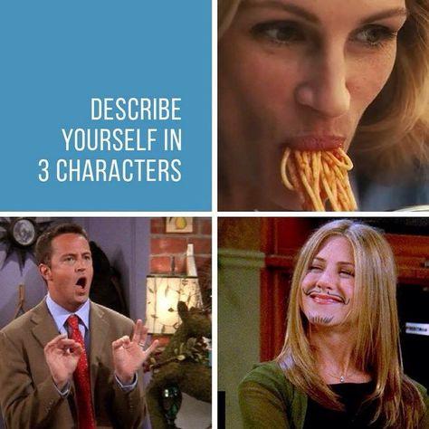 #describeyourselfin3characters
